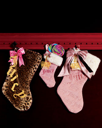 For a laugh and the gaudiest gals you know, the Juicy Couture Faux Leopard Stocking ($48) is just the thing.