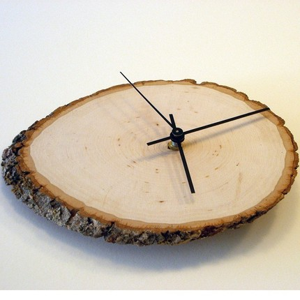 If you have a thing for wood grains, consider adding this Time to Log In Clock ($28.50) to your wall.