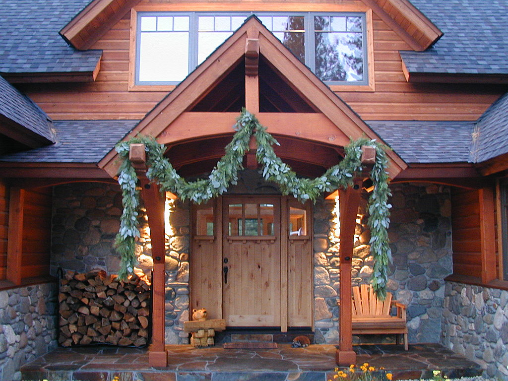 Go big with a eucalyptus garland that drapes majestically from your front entry. It's the only holiday accent needed! Source