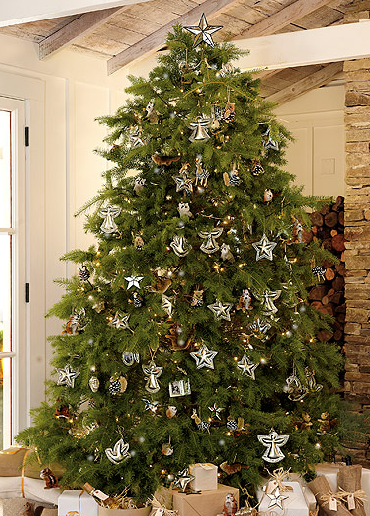 If your family sets presents under the tree before Christmas day, consider wrapping them all in neutral white or brown kraft paper to let your green tree steal all the attention.