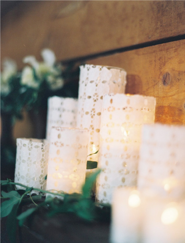 Style Me Pretty has the lowdown on these lovely eyelet candles. Perfect for the holidays or for a wedding!