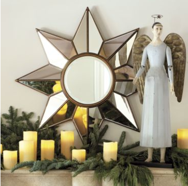 The Dorado Star Mirror ($300) echoes the shape of the tiled floor in the film.