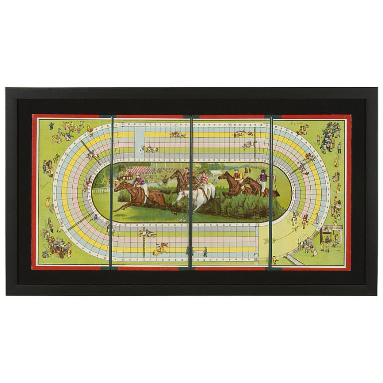 Let the games begin inside your home with this Vintage Steeplechase Board Game ($1,250). It would make a very cool wall hanging.
