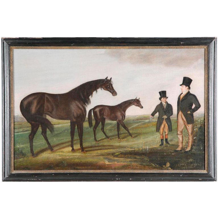 This 19th Century English Oil Canvas ($6,000) just screams landed gentry, don't you think?