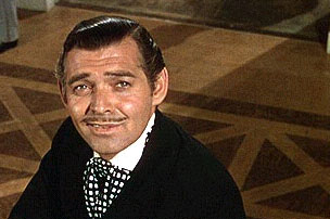Rhett Butler looks even more handsome when he's framed by a parquet floor. Source