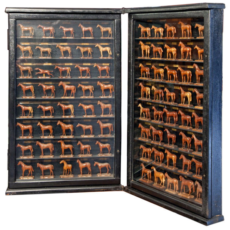 This Kentucky Derby Winners Shadow Box ($50,000) is a must have for all of those wealthy Derby enthusiasts out there. It features hand-carved horses with labels below noting the name and date of the winning Derby from 1875-1954.