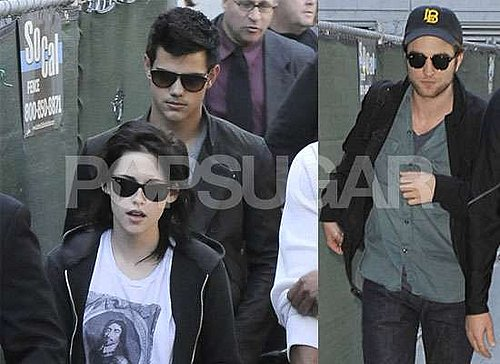 Photos of Robert Pattinson, Kristen Stewart and Taylor Lautner Arriving in LA after New Moon Event in Munich