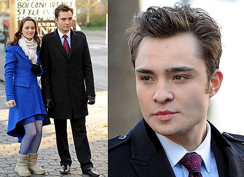 Photos of Ed Westwick and Leighton Meester Filming Gossip Girl Season Three 2009-12-02 01:30:00