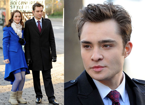 Photos of Ed Westwick and Leighton Meester Filming Gossip Girl