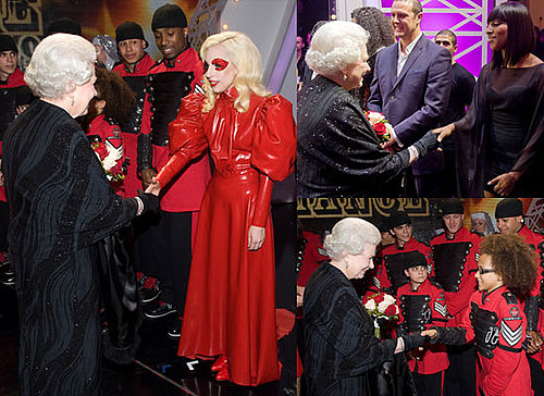 Photos of the Queen Meeting Lady GaGa, Diversity, Alexandra Burke, Miley Cyrus at Royal Variety Performance 2009 2009-12-08 02:28:40