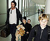 Slide Photo of David Beckham at Heathrow with Romeo, Cruz, and Brooklyn