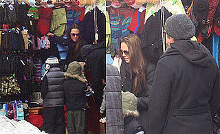 Photos of Angelina Jolie, Brad Pitt, And Maddox Jolie-Pitt Shopping in NYC