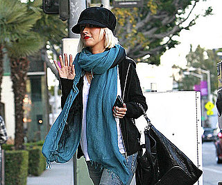 Slide Photo of Christina Aguilera Waving to Cameras in LA