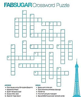 FabSugar Fashion Crossword Puzzle