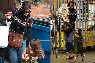 Photos of Katie Holmes and Suri Cruise Getting Food and Flowers in LA