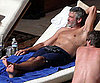Slide Photo of George Clooney Vacationing Shirtless in Mexico