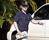 Slide Photo of Owen Wilson Walking With the Paper in Hawaii