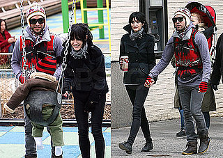 Photos of Pete Wentz, Ashlee Simpson and Bronx Visiting a Playground in NYC
