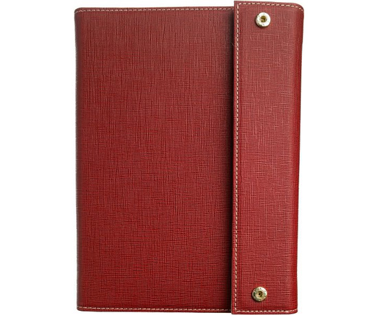 Madison Trifold Cover in Crimson ($40)