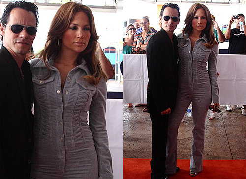 Photos of Jennifer Lopez in Jumpsuit in Miami with Marc Anthony