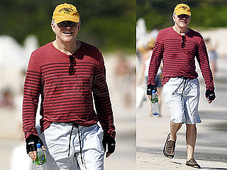 Photos of Steve Martin Taking a Walk on the Beach in St. Bart's