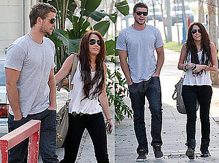 Photos of Miley Cyrus and Liam Hemsworth Running Errands in LA
