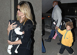 Photos of Heidi Klum, Seal, Lou and Johan Samuel Arriving at LAX