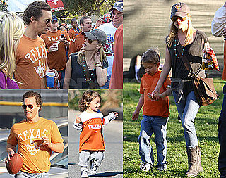 Photos of Reese Witherspoon, Deacon Phillippe, Matthew McConaughey at BCS Championship Game in Pasadena