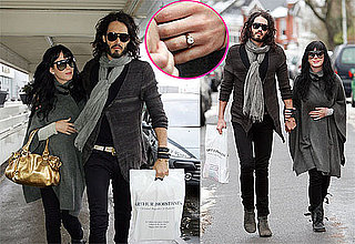 Photos of Russell Brand and Katy Perry Wearing Her New Engagement Ring