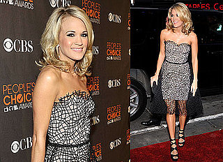 Carrie Underwood Brings Her Engagement Bling to PCAs!