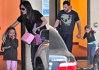 Photos of Jennifer Garner and Ben Affleck Dropping Off, Picking Up Violet Affleck in LA
