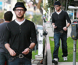Photos of Justin Timberlake in LA After Spending New Year's Eve With Jessica Biel