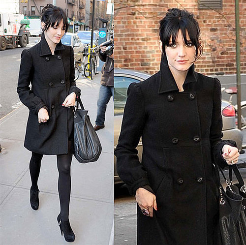 Ashlee Simpson in NYC Wearing All Black