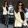Kate Beckinsale Wears Acid Leggings and Ivory Blazer