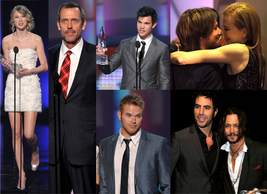 Photos from the Show and Backstage at the 2010 People's Choice Awards Including Taylor Lautner, Kellan Lutz, Taylor Swift