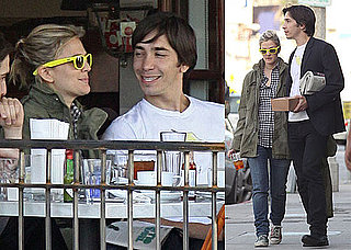 Photos of Drew Barrymore and Justin Long Eating Lunch in LA With Friends