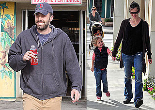 Photos of Ben Affleck at the Store While Jennifer Garner and Violet Affleck Take a Walk in LA