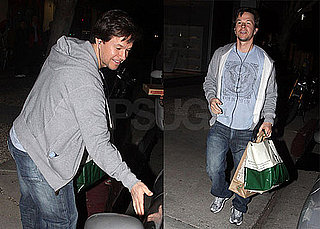 Photos of Mark Wahlberg Running Into a Little Car Trouble While Picking Up Dinner in LA
