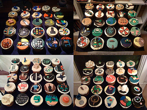 Cupcakes Made With Video Game Logos