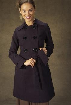 Style Violet : Shadow Stripe Trenchcoat by Tulle