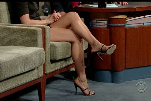 Jen's Shoes on Letterman