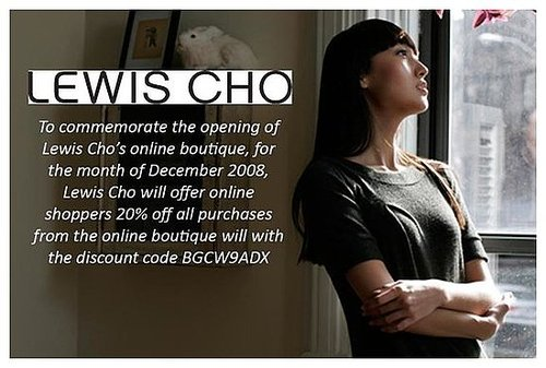 Lewis Cho Goes e-Commerce