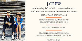 J.Crew To Hold First Public Sample Sale