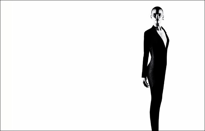 Natasha Poly for Jil Sander Spring 2009: High Contrast
