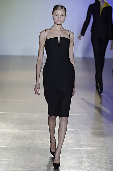 Jil Sander Fall 2009: So Beautiful, Model Cries on the Runway
