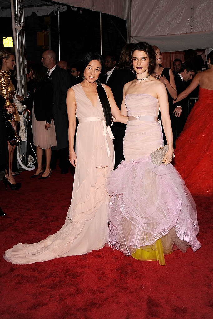 Vera Wang with Rachel Weisz in her design