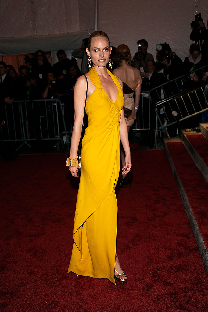 Amber Valletta in vintage James Galanos
