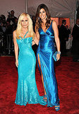 Donatella Versace and Cindy Crawford in Versace