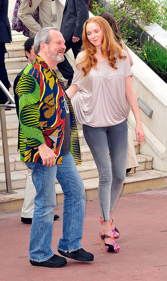 Lily Cole with Terry Gilliam at The Imaginarium of Dr. Parnassus photo call