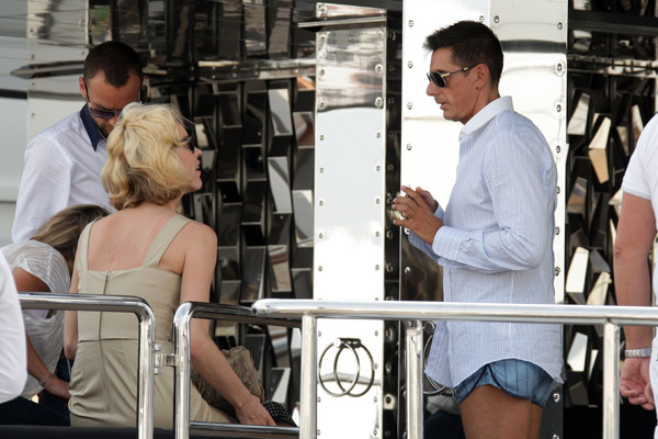 May 22: Eva Herzigova and Stefano Gabbana on his yacht, Regina D'Italia